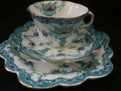 Gorgeous George Proctor Bright blue tea trio