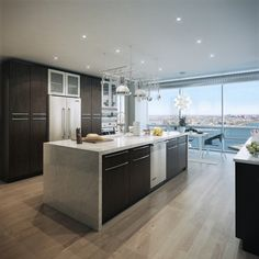 light wood floors in kitchen - Google Search