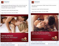 Facebook da loja do Motel Veneza em Itabuna-BA. Criação da redação e dos textos das postagens.
