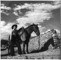Vintage photos of cowboys and cowgirls