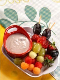 Sate Buah Yogurt :: Vegetables Satay with Yogurt Dipping