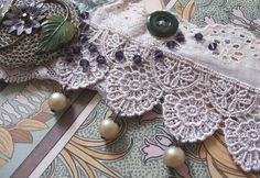Dainty Doing Double Duty Vintage Lace by artefactredux on Etsy, $52.00