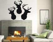 LARGE Wall Decor Decal Sticker Removable Vinyl deer 02