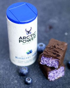 Vegan Blueberry Bounty Bars - UK Health Blog - Nadia's Healthy Kitchen