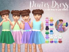 The Sims Resource: Peuter Dress by Eenhoorntje • Sims 4 Downloads