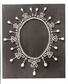 Diamond and Pearl Necklace which belonged to Empress Marie Feodorovna of Russia; convertible to tiara.