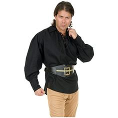 Unisex Buccaneer Pirate Shirt Costume Accessory  Large  Chest Size 42 -- Details can be found by clicking on the image-affiliate link. #PirateTheme