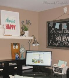 Great tips to help you organize your home office space!