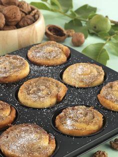 Diós csiga muffinformában sütve