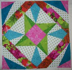 100 Blocks vol. 6: Spinstar by Eileen Fowler. Mug and issue giveaway today: http://www.quiltmaker.com/blogs/quiltypleasures/2012/11/100-blocks-vol-6-spinstar/