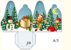 Christmas Gift Box, Winter Christmas, Christmas Crafts, Christmas Decorations, Xmas, Christmas Ornaments, Christmas Activities, Christmas Printables, Diy Gift Box