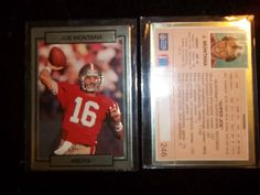 Lot of 2 - 1990 Joe Montana Action Packed # 246 San Fransico 49ers