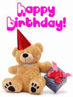 Happy Birthday osito de peluche con regalo
