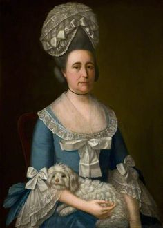 """""""Portrait of a Lady"""" by Strickland Lowry, c1780. National Museums Northern Ireland, Acc. #BELUM.U712."""