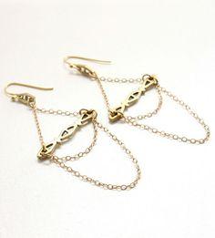 Reign Brass Earring | Jewelry Earrings