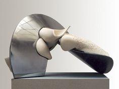 """Stella Zadros, ceramic sculpture - """"Object I"""" form The Small mirror series, 2001, 70 x 95 h x 65 cm, www.stellaart.com"""
