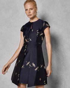 566118ad4 New Ted Baker Sugar Plum jacquard dress sz 4 UK 14  fashion  clothing