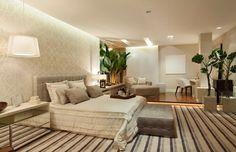quartos grandes espacosos como decorar