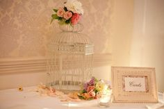 RG321- Decorated Vintage Birdcage for your wishing well