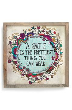 Natural Life 'Pretty Smile - Street Market' Stretched Canvas Wall Art from Nordstrom, Inspirational, wise words Words Quotes, Wise Words, Me Quotes, Motivational Quotes, Inspirational Quotes, Sayings, Great Quotes, Quotes To Live By, Wall Canvas