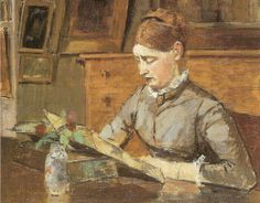 Henri Rouart (October 1833 in Paris, France - January 1912 in Paris, France), Helene lisant, rue re Lisbonne Art Painting, Fine Art, Woman Reading, Painting, Female Art, Reading Art, Art, French Artists, Love Art
