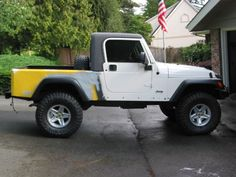 I am looking to build a TJ into a AEV Brute like truck, of course without the AEV parts. My main concern is figuring out how to get a top together. Jeep Wrangler Off Road, Jeep Jt, Jeep Mods, Wrangler Tj, Jeep Wrangler Unlimited, Jeep Brute, Jeep Scrambler, Suv 4x4, Badass Jeep