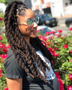 Mommy is officially ready for her baby shower dreads styles, dreadlock styl Dreadlock Styles, Dreads Styles, Curly Hair Styles, Natural Hair Styles, Natural Hair Accessories, Beautiful Dreadlocks, Pretty Dreads, Dreadlock Hairstyles, Easy Hairstyles