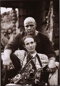 "Mary Ellen Mark - Self portrait with Marlon Brando on the set of ""Apocalpyse Now"", 1979."