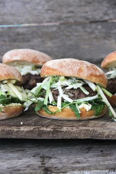 Kangaroo Burgers with Apple, Fennel + Celery Slaw - I Quit Sugar