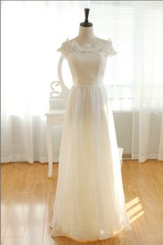 Custom Made Chiffon Long Lace  Wedding/Bridal dress by FreePeoples, $209.99