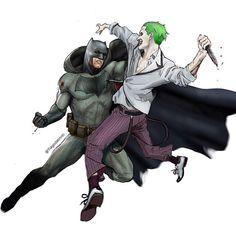 Incredible Fan Art of Ben Affleck's Batman Vs. Jared Leto's Joker
