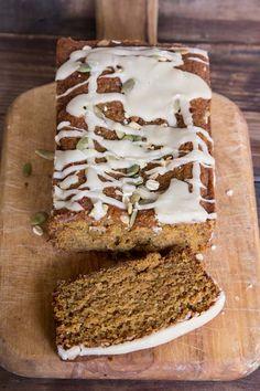 Pumpkin Bread Recipe with Maple Icing • theVintageMixer.com