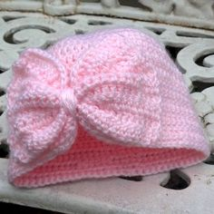 Baby Turban Hat with a Bow - Free Pattern
