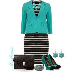 """""""Black striped dress * Interview outfit"""" by msmeena on Polyvore"""