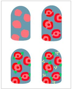 How To: Vintage Roses - easy beginner nail art design