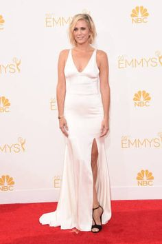 FASHION INSPIRATION Emmys 2014: all the red carpet dresses - flawless open skirt white dress