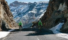 The snow had started to thaw, enabling the riders to get back on the road.