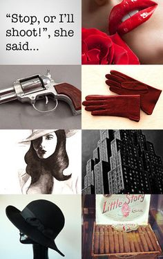 Minus the gun references, unless you want the reception to be a murder mystery dinner party Film Noir Photography, Old Hollywood Theme, Detective Aesthetic, Batman Wedding, Mass Culture, Black And White Quilts, Mystery Dinner, Stephanie Brown, Private Eye