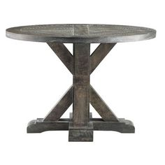"""Bridgeport Round """"End Table"""" Living Room Furniture Lounge Accent Home Decor Den Chair Side Table, Sofa End Tables, Bedside Tables, Dining Tables, Lounge, Weathered Oak, Elk Lighting, Table Dimensions, Lowes Home Improvements"""