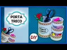 DIY: Artesanato Reciclado - Porta Treco Usando Latas - YouTube