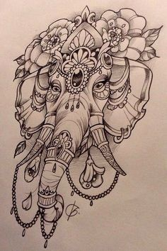 Elephant design, by Nina, Beautiful Freak Tattoo, Belgium