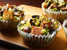 Stuffin Muffins! Made this as a side dish & it was a hit! Portion control baby! Foodnetwork.com has various receipes