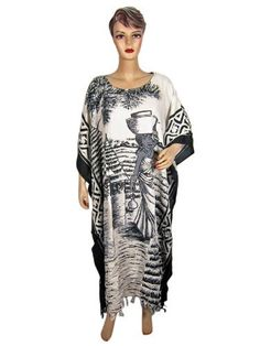 Caftan Dress Black & White Tribal Print Kaftan Resort Wear Long Cover up Caftans One Size Mogulinterior, http://www.amazon.com/dp/B009GBWSJU/ref=cm_sw_r_pi_dp_sDxyqb0PTQNMR$29.99