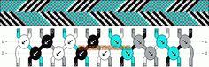 Normal Friendship Bracelet Pattern #1015 - BraceletBook.com