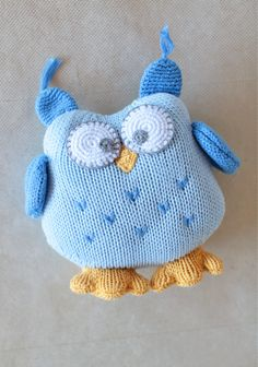 Boomer The Owl Rattle 16.99 at shopruche.com. Made for cuddling, this plush blue owl rattle is handcrafted in a soft cotton knit with embroidered details. All ages. Hand wash.100% Cotton , Fill: 100% Polyester