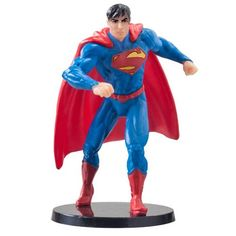 The superheroes and villains of the DC Universe get the 2 scale treatment! This Superman Mini PVC Figurine is great. It features DC's Superman in a heroic pose and standing on top of a circular base. Ages 4 and up. Superman 2, Superman Party, Superman Stuff, Dc Comics Series, Superman Cakes, Dc Comics Action Figures, Black Friday Specials, Hobby Toys, Toys