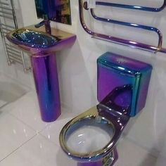 Lol, only someone like me would have a purple tiolet and sink...