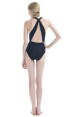 Teens Black Bardot Neck Pom Pom Trim Swimsuit Add to Saved Items Remove from Saved Items