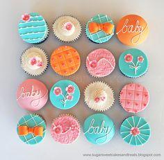 Baby Shower Cherry Blossom Cupcakes by Sugar Sweet Cakes & Treats (Angela Tran)