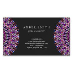 Shop Colorful Magic Mandala Business Card Magnet created by ZyddArt. Art Business Cards, Beauty Business Cards, Magnetic Business Cards, Elegant Business Cards, Business Card Design, Print Templates, Card Templates, Standard Business Card Size, Mandala Design